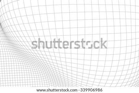 Geometric Wireframe Shape  - stock vector