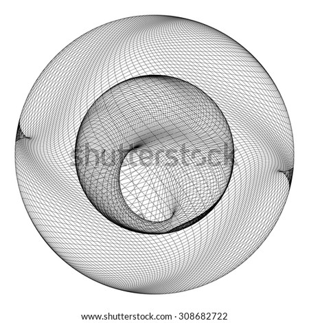Geometric Wireframe Shape Vector 70 - stock vector
