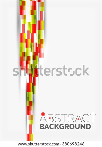Geometrical design background, straight lines on white - stock vector