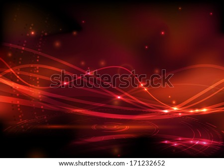 Geometrical swooshed background template. Vector illustration - stock vector