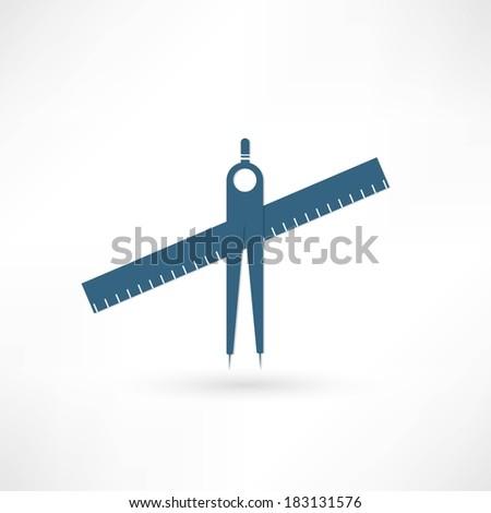 geometry compasses - stock vector