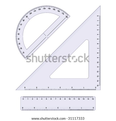 Geometry Set - stock vector