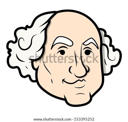 george washington vector cartoon clip art vector stock vector rh shutterstock com george washington carver clipart george washington clipart free