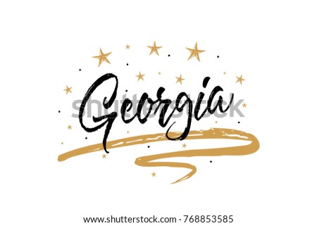 georgia name country word text cardのベクター画像素材 768853585