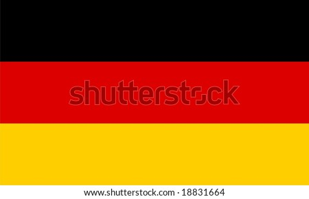 German flag vector isolated illustration