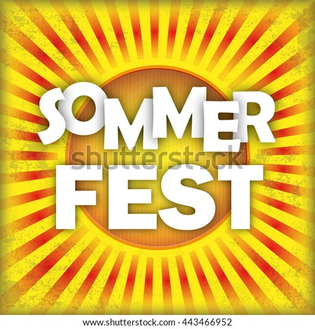 "German text ""Sommerfest"", translate ""Summer Fest"". Eps 10 vector file."