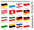germany civil flags collection against white background, abstract vector art illustration - stock photo