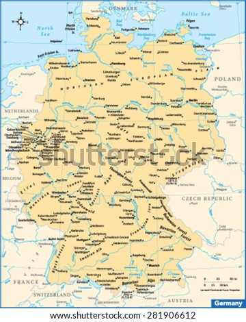 Germany Country Map