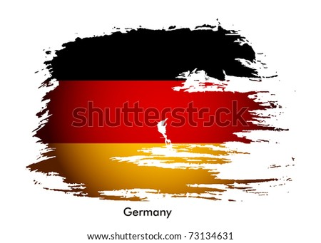 Germany flag grunge banner design, vector illustration. - stock vector