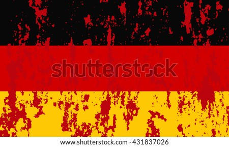 Germany flag in grunge. Vector image - stock vector