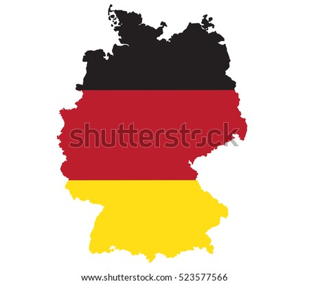 Germany flag map.