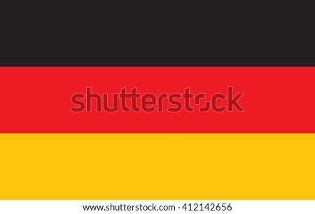 Germany flag. Tricolor flag consists of black, red and yellow. - stock vector