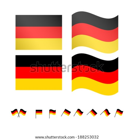 Germany Flags EPS 10