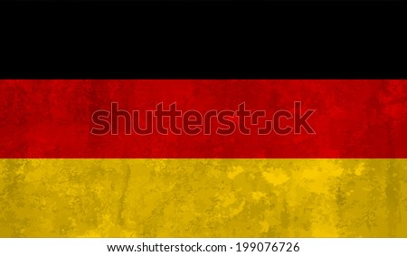 Germany, German flag on concrete textured background