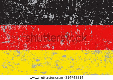 Germany grunge,scratch,old style flag - stock vector
