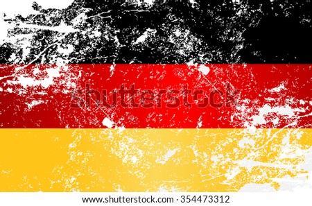 Germany Grunge Texture Flag. Grunge effect can be cleaned easily. - stock vector