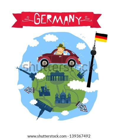 Germany icon - stock vector