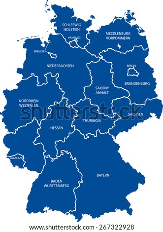 Germany Map Stock Vector Shutterstock - Germany map outline