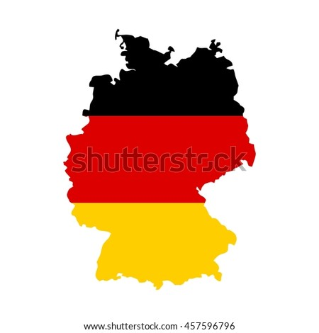 germany map. germany flag.
