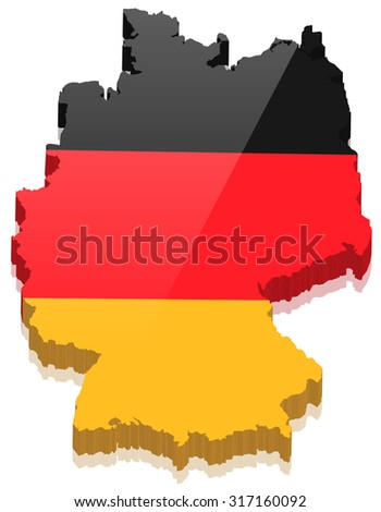 germany map vector 3D - stock vector
