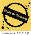 Germany rubber stamp - stock photo