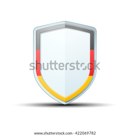 Germany shield sign - stock vector