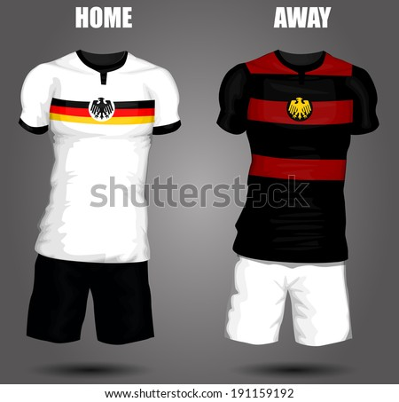Germany soccer jersey - stock vector