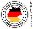 germany sticker - vector illustration - stock vector