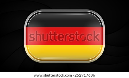 Germany. Vector Flag Button Series. Rectangular Shape This image is a vector illustration and can be scaled to any size without loss of resolution. This image will download as a EPS file. - stock vector