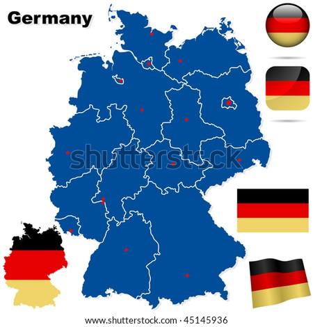 Button Flag German Map Shape Stock Images RoyaltyFree Images - Germany map shape