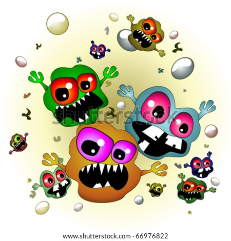 Germs - stock vector