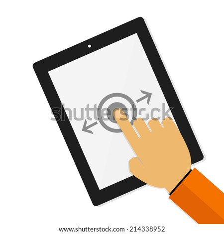 Gesture for touch devices,vector illustration - stock vector