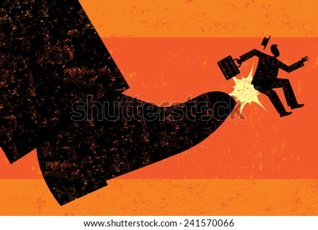 Getting Fired - stock vector