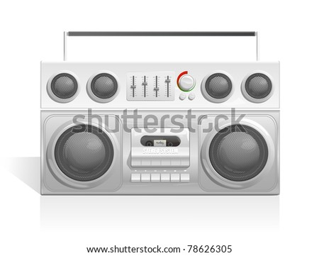 ghetto blaster audio cassette player icon