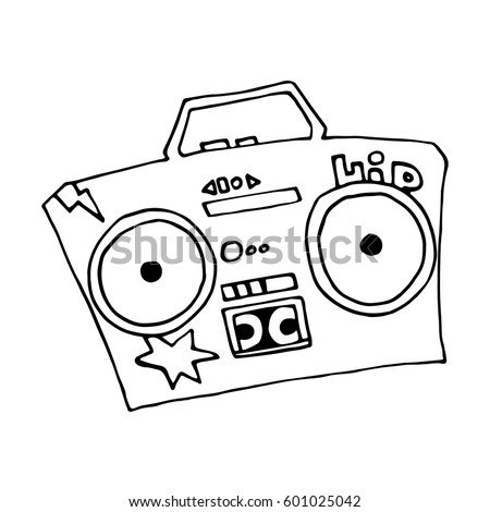 Sketch of ghetto stock images royalty free images vectors ghetto blaster boombox sketch drawing on white background vector isolated image street style hip sciox Gallery