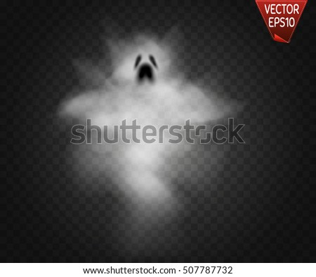 Ghost isolated on transparent background. Vector illustration.