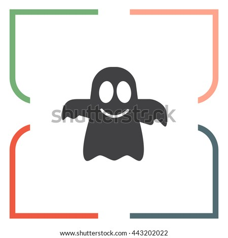 Ghost vector icon. Spirit sign. Spooky symbol