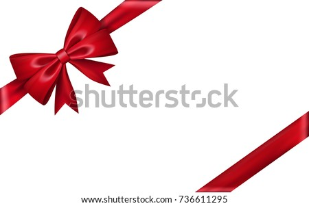 Gift bow ribbon silk red bow stock vector 736611295 shutterstock gift bow ribbon silk red bow tie isolated on white background 3d gift bow negle Image collections