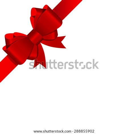 Gift Bow with Ribbon Vector Illustration EPS10