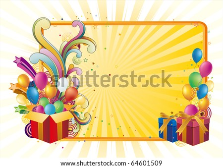 gift box and balloon,celebration background