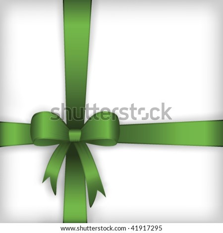 Gift box bow - stock vector