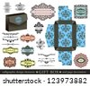 Gift box : calligraphic design elements and page decoration - stock vector