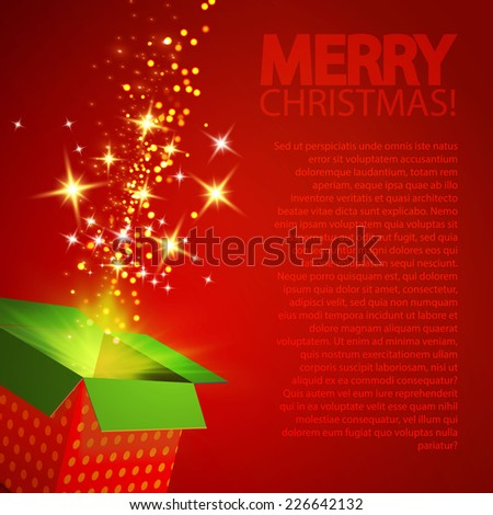 Gift box for your Christmas design. Vector illustration - stock vector