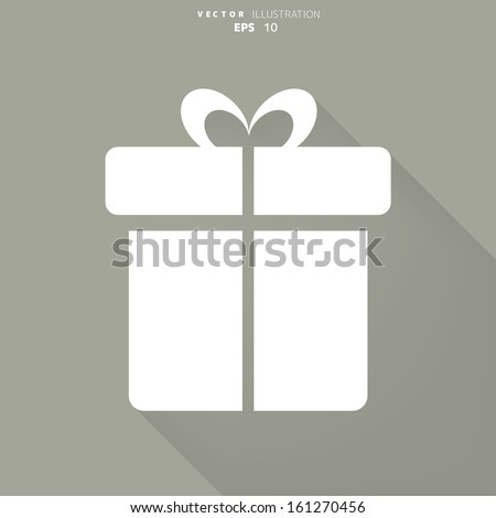 Gift box icon - stock vector