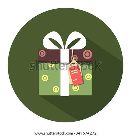 gift box icon - stock vector