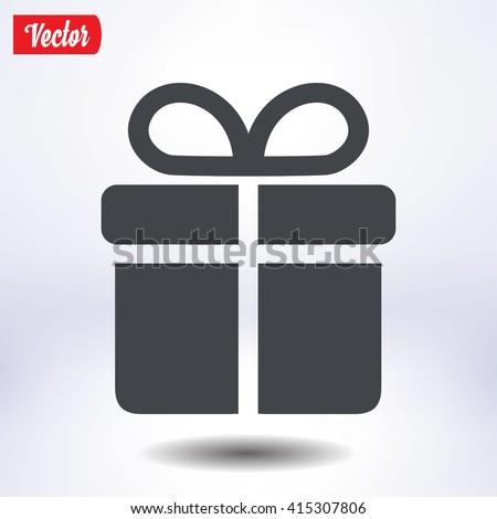 Gift box  icon. - stock vector