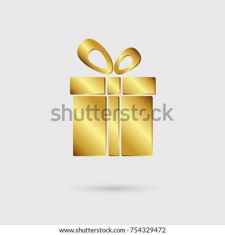 Gift box icon gold color premium stock vector 754329472 shutterstock gift box icon gold color premium set vector illustration negle Gallery