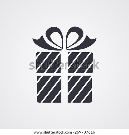 Gift box, icon. Vector  Eps 10  - stock vector