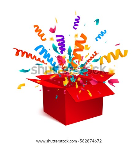 gift box isolated on white background stock vector 582874672
