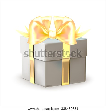 gift box, isolated vector, element for greetings cards, box, tied with a ribbon with a bow